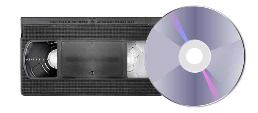 VHS-cassette-dvd-disc