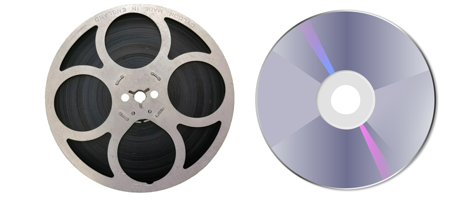 cine-film-reel-next-to-dvd