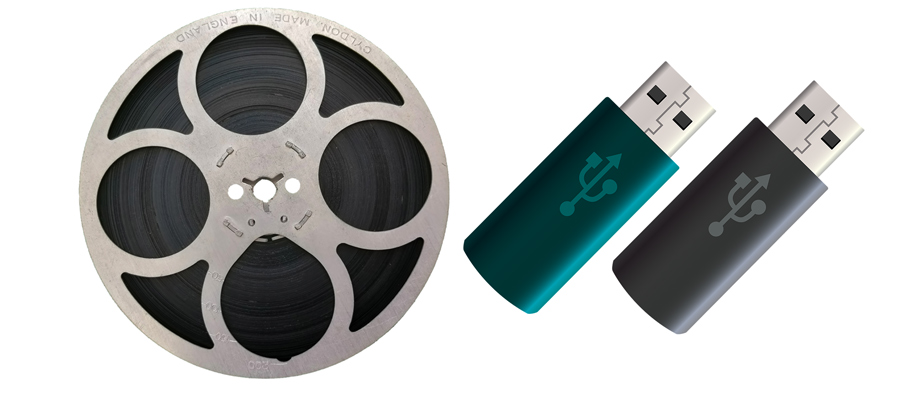 cine-film-reel-next-to-usb-sticks